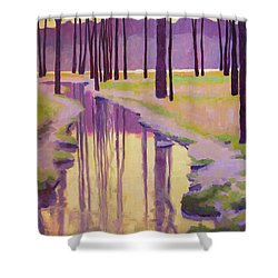 Where Nymphs Play Shower Curtain by Mary McInnis