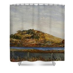 Where The Bay Meets The Hill Shower Curtain