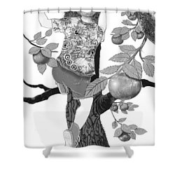 Shower Curtain featuring the digital art Where The Best Apples Are by Carol Jacobs