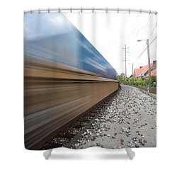 Where The Day Takes You Shower Curtain by Jimmy Taaffe