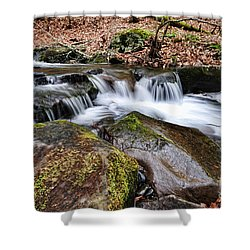 Where The River Flows Shower Curtain by Paul Ward