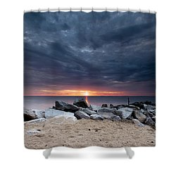 Where There Is Smoke There Is Fire Shower Curtain by Edward Kreis