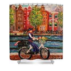 Where To ... Amsterdam Shower Curtain