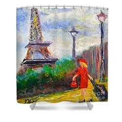 Where To .... Paris  Shower Curtain