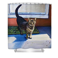 Where's Breakfast? Shower Curtain