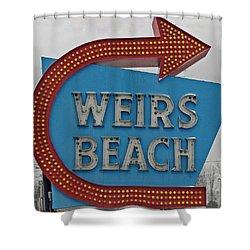 Where's Weirs? Shower Curtain by Barbara McDevitt