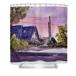 Whidbey Getaway Shower Curtain by Barry Jones