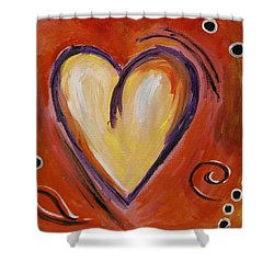 Whimsical  Abstract Art - With All My Heart Shower Curtain