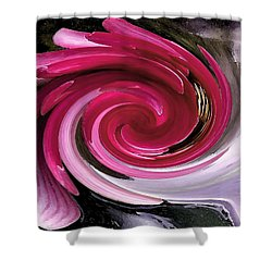 Whirlaway - Magenta Shower Curtain