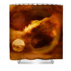 Whirling In The Clouds Shower Curtain by Jeff Swan