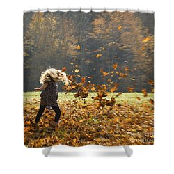 Shower Curtain featuring the photograph Whirling With Leaves by Carol Lynn Coronios