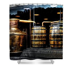Whiskey Still On Main Street Shower Curtain