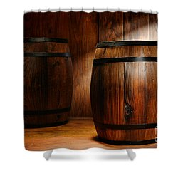 Whisky Barrel Shower Curtain