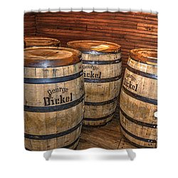 Whisky Barrels Shower Curtain