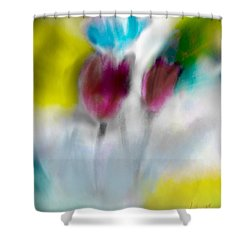 Shower Curtain featuring the digital art Whisper by Frank Bright