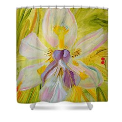 Shower Curtain featuring the painting Whisper by Meryl Goudey