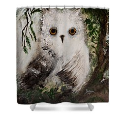 Whisper The Snowy Owl Shower Curtain