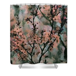Whispering Cherry Blossoms Shower Curtain by Janice MacLellan