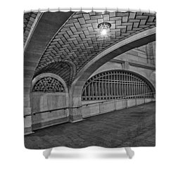 Whispering Gallery Bw Shower Curtain by Susan Candelario