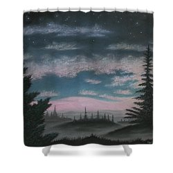 Whispering Pines 02 Shower Curtain