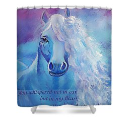 Whispers To My Heart Shower Curtain by The Art With A Heart By Charlotte Phillips