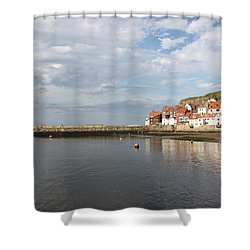 Shower Curtain featuring the photograph Whitby Abbey N.e Yorkshire by Jean Walker