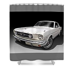 White 1966 Mustang Shower Curtain