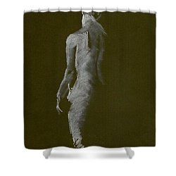 White Back Shower Curtain