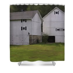 White Barns Shower Curtain
