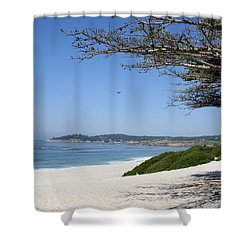 White Beach At Carmel Shower Curtain by Christiane Schulze Art And Photography