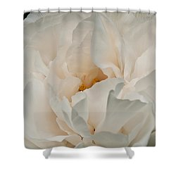 White Beauty Shower Curtain by Sabine Edrissi