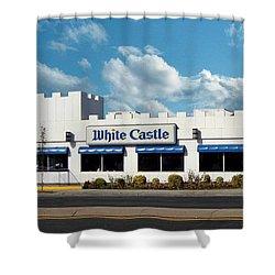 White Castle Shower Curtain by Bruce Lennon