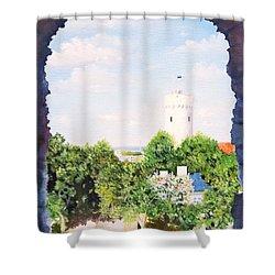 White Castle In Tallinn Estonia Shower Curtain
