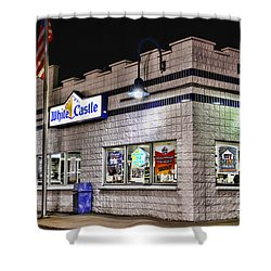 White Castle Shower Curtain by Paul Ward