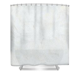 White Color Of Energy Shower Curtain by Ania Milo