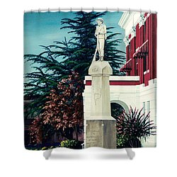 White County Courthouse - Civil War Memorial Shower Curtain