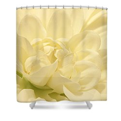 White Dahlia Dreams Shower Curtain