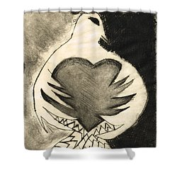 White Dove Art - Comfort - By Sharon Cummings Shower Curtain