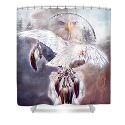 White Eagle Dreams 2 Shower Curtain by Carol Cavalaris