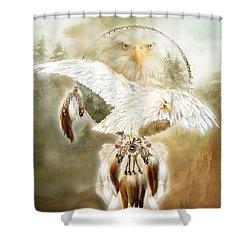 White Eagle Dreams Shower Curtain by Carol Cavalaris