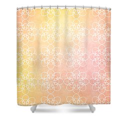 White Flowers With Warm Orange Background Shower Curtain