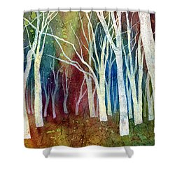 White Forest I Shower Curtain