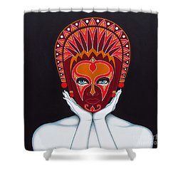 Shower Curtain featuring the painting White Goddess by Joseph Sonday