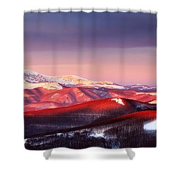 White Heart Shower Curtain by Evgeni Dinev