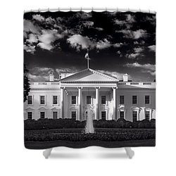 White House Sunrise B W Shower Curtain