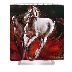 White Knight Shower Curtain