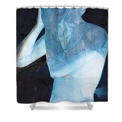 White Lights I Shower Curtain by Graham Dean