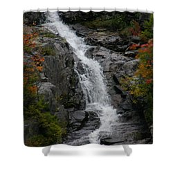 Shower Curtain featuring the photograph White Mountain Water Fall  by Denyse Duhaime