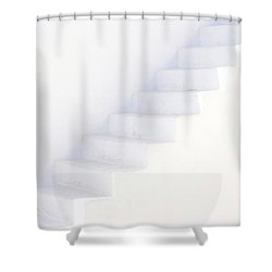 White On White Shower Curtain by Lisa Parrish