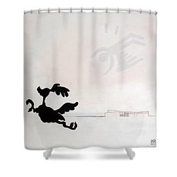 White Palm Springs Idyll Shower Curtain by Stan  Magnan